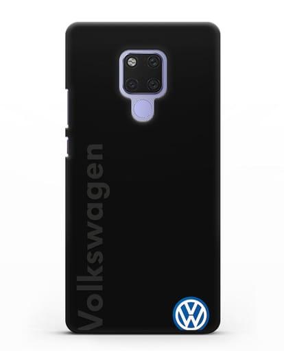 Чехол с надписью Volkswagen и логотипом силикон черный для Huawei Mate 20X