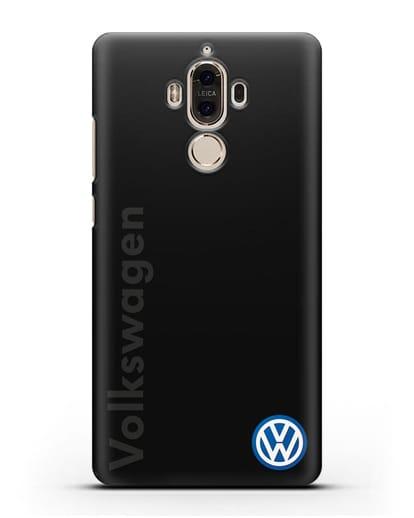 Чехол с надписью Volkswagen и логотипом силикон черный для Huawei Mate 9