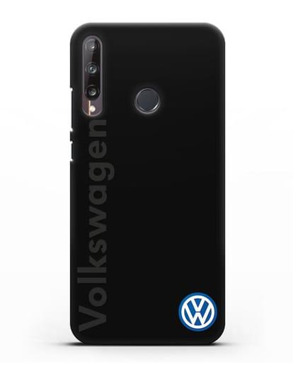 Чехол с надписью Volkswagen и логотипом силикон черный для Huawei P40 lite E