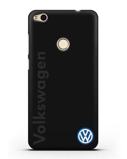 Чехол с надписью Volkswagen и логотипом силикон черный для Huawei P8 Lite 2017