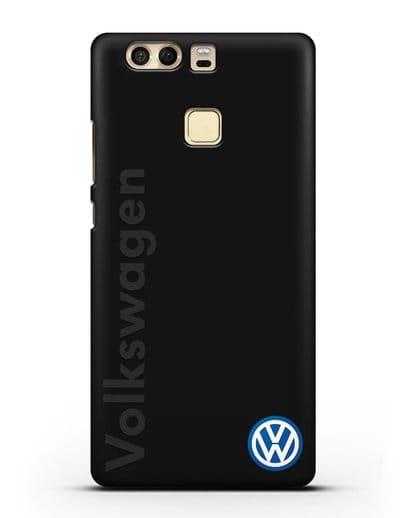 Чехол с надписью Volkswagen и логотипом силикон черный для Huawei P9
