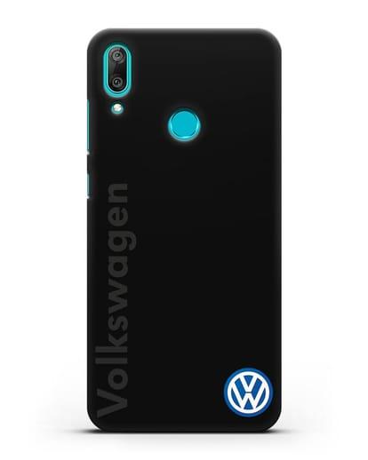 Чехол с надписью Volkswagen и логотипом силикон черный для Huawei Y7 2019