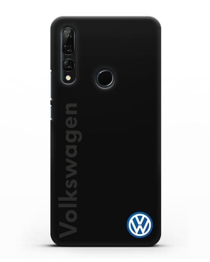 Чехол с надписью Volkswagen и логотипом силикон черный для Huawei Y9 Prime 2019
