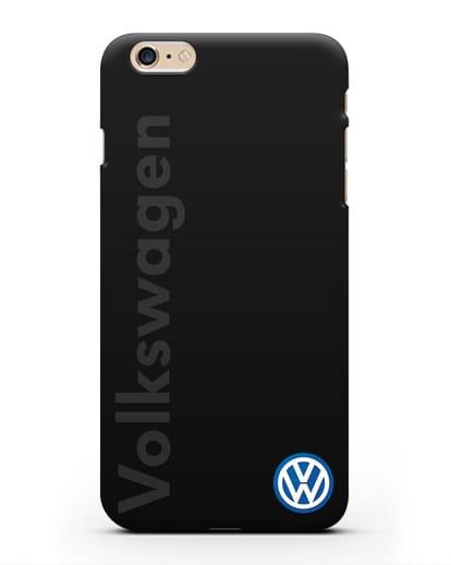 Чехол с надписью Volkswagen и логотипом силикон черный для iPhone 6 Plus