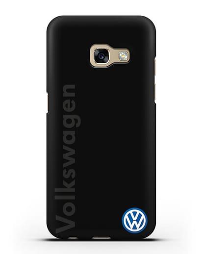 Чехол с надписью Volkswagen и логотипом силикон черный для Samsung Galaxy A7 2017 [SM-A720F]