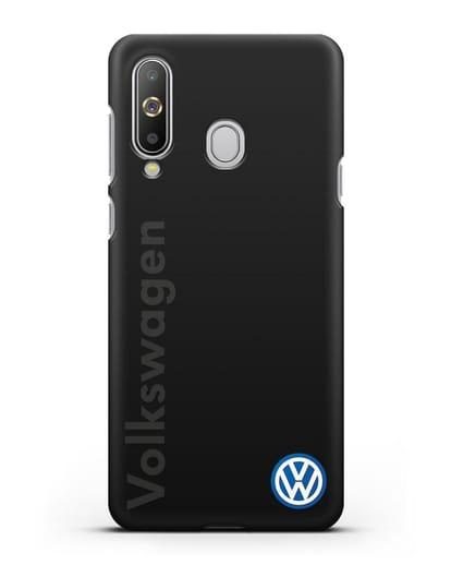 Чехол с надписью Volkswagen и логотипом силикон черный для Samsung Galaxy A8s [SM-G8870]