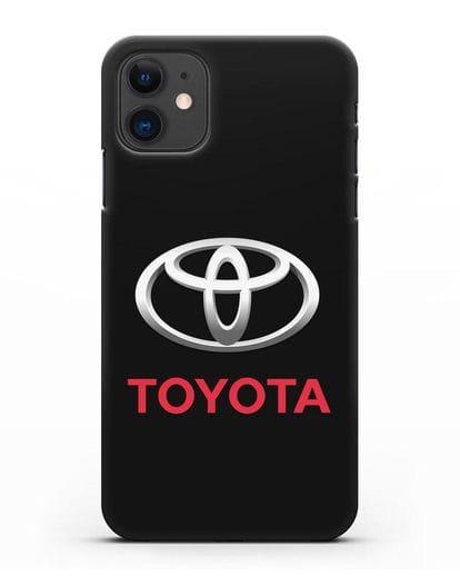 Чехол с логотипом Toyota силикон черный для iPhone 11