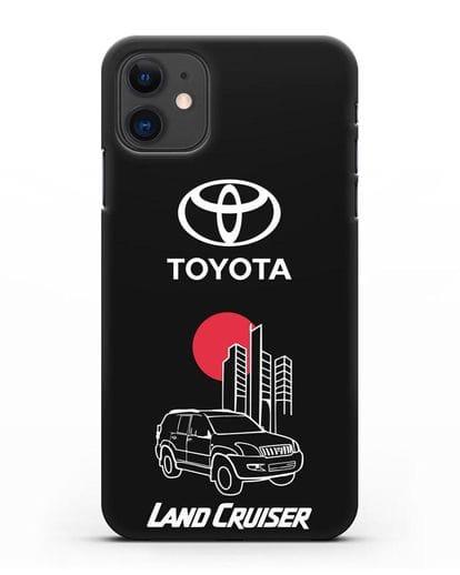 Чехол с изображением Toyota Land Cruiser силикон черный для iPhone 11