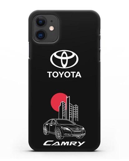 Чехол с изображением Toyota Camry силикон черный для iPhone 11