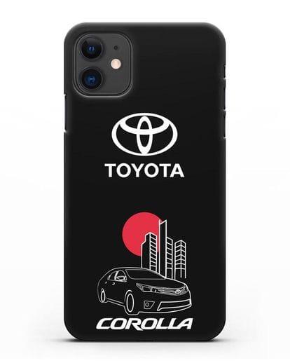 Чехол с изображением Toyota Corolla силикон черный для iPhone 11