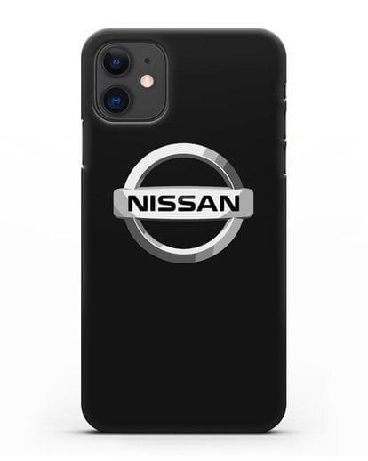 Чехол с логотипом Nissan силикон черный для iPhone 11