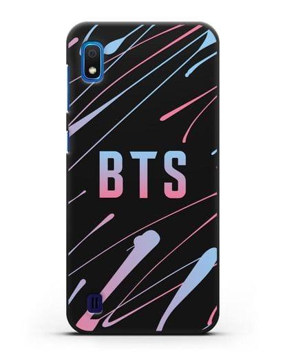 Чехол с надписью BTS силикон черный для Samsung Galaxy A10 [SM-A105F]