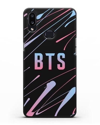 Чехол с надписью BTS силикон черный для Samsung Galaxy A10s [SM-F107F]