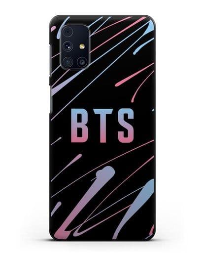 Чехол с надписью BTS силикон черный для Samsung Galaxy M51 [SM-M515F]