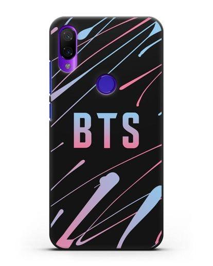 Чехол с надписью BTS силикон черный для Xiaomi Mi Play