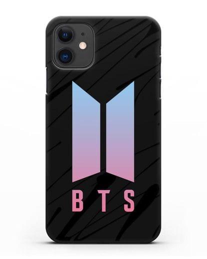 Чехол с логотипом BTS Army силикон черный для iPhone 11