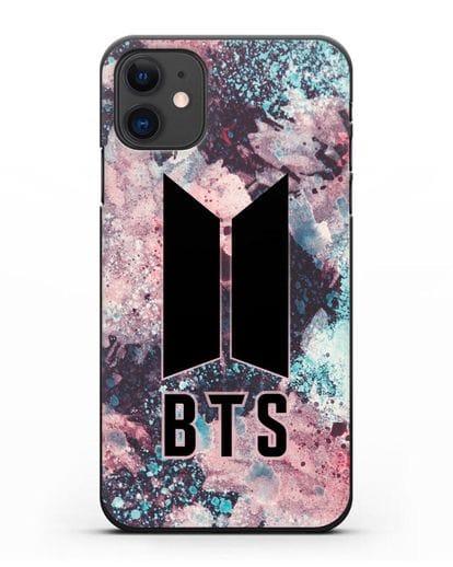 Чехол с картинкой BTS силикон черный для iPhone 11