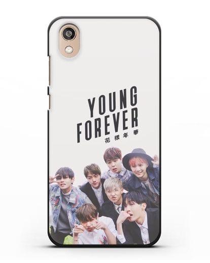 Чехол с картинкой BTS. Young Forever силикон черный для Honor 8S