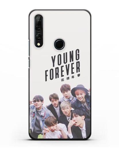 Чехол с картинкой BTS. Young Forever силикон черный для Honor 9X
