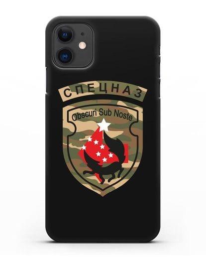Чехол с надписью Спецназ и нарукавным знаком 5-я ОБрСпН цвет хаки силикон черный для iPhone 11