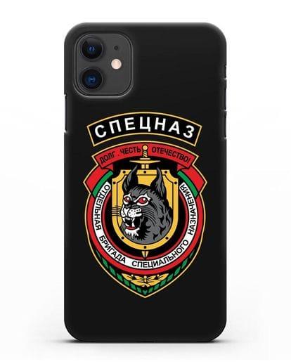 Чехол с эмблемой 3-я ОБрСпН ВВ МВД РБ силикон черный для iPhone 11