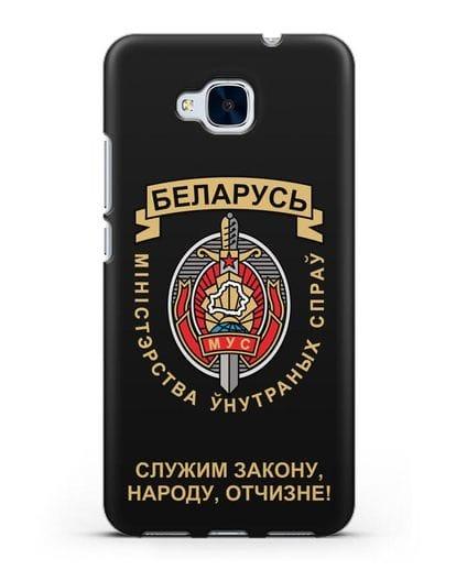 Чехол с гербом Министерства Внутренних Дел Республики Беларусь силикон черный для Honor 5C