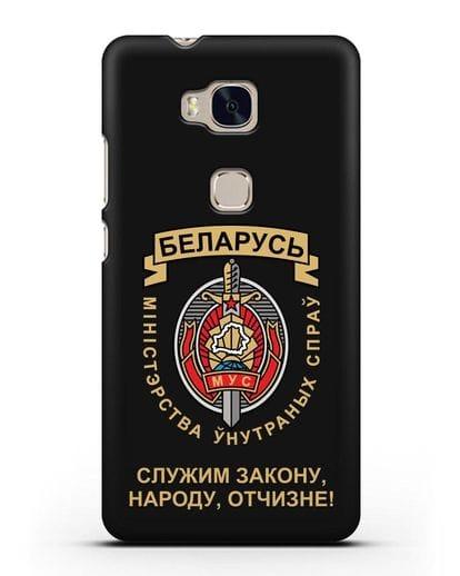 Чехол с гербом Министерства Внутренних Дел Республики Беларусь силикон черный для Honor 5X