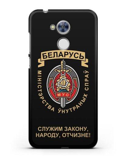 Чехол с гербом Министерства Внутренних Дел Республики Беларусь силикон черный для Honor 6A