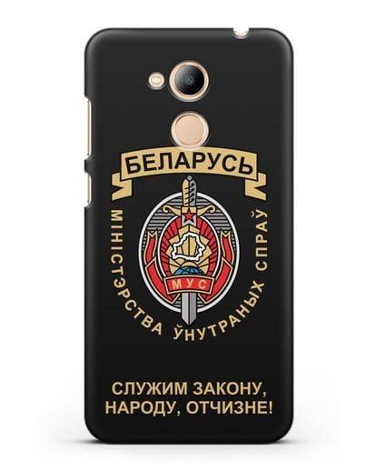 Чехол с гербом Министерства Внутренних Дел Республики Беларусь силикон черный для Honor 6C Pro