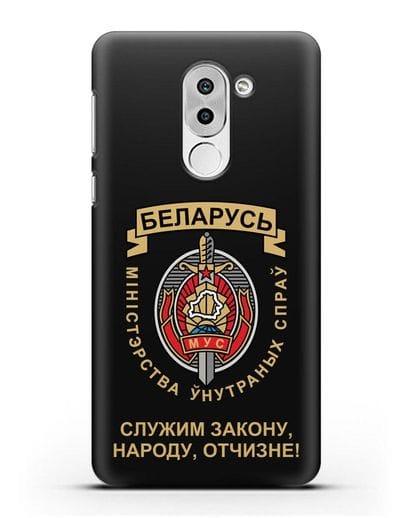 Чехол с гербом Министерства Внутренних Дел Республики Беларусь силикон черный для Honor 6X
