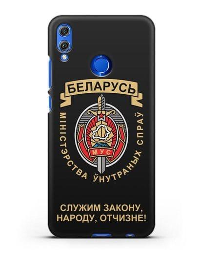 Чехол с гербом Министерства Внутренних Дел Республики Беларусь силикон черный для Honor 8X