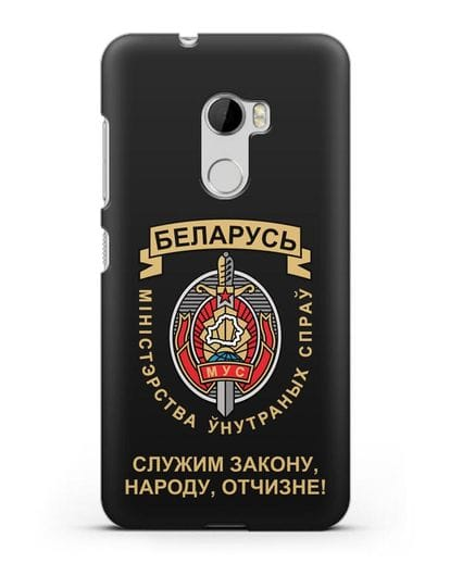 Чехол с гербом Министерства Внутренних Дел Республики Беларусь силикон черный для HTC One X10