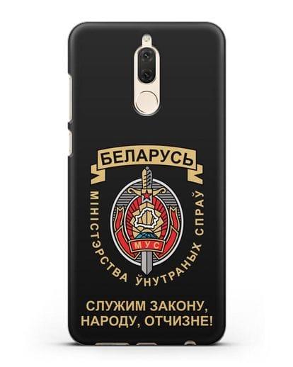 Чехол с гербом Министерства Внутренних Дел Республики Беларусь силикон черный для Huawei Nova 2