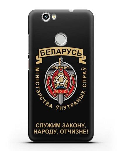 Чехол с гербом Министерства Внутренних Дел Республики Беларусь силикон черный для Huawei Nova