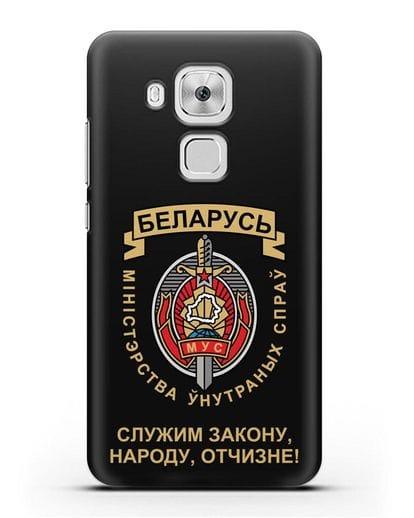 Чехол с гербом Министерства Внутренних Дел Республики Беларусь силикон черный для Huawei Nova Plus