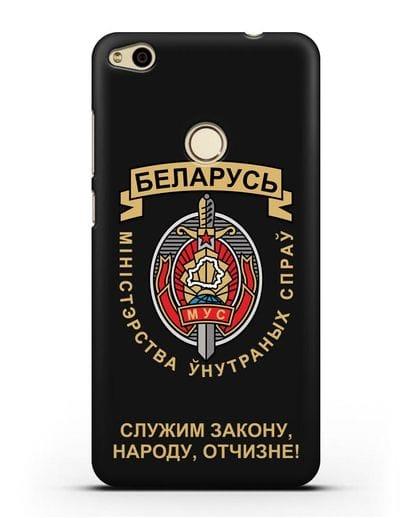 Чехол с гербом Министерства Внутренних Дел Республики Беларусь силикон черный для Huawei P8 Lite 2017
