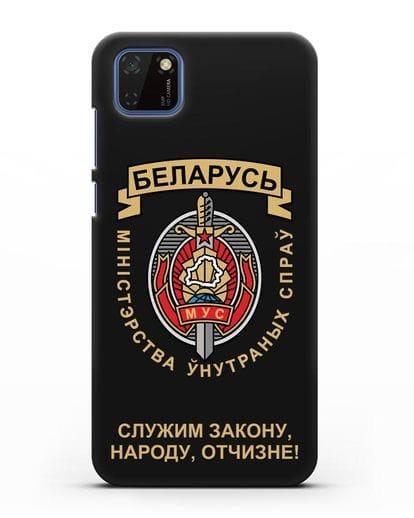 Чехол с гербом Министерства Внутренних Дел Республики Беларусь силикон черный для Huawei Y5P