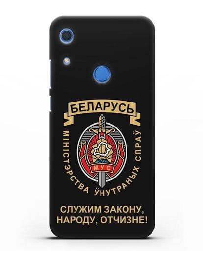 Чехол с гербом Министерства Внутренних Дел Республики Беларусь силикон черный для Huawei Y6s