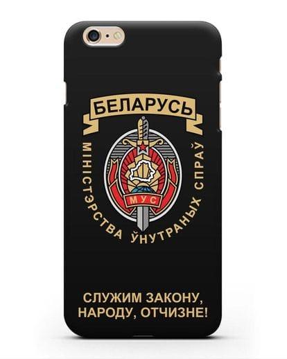 Чехол с гербом Министерства Внутренних Дел Республики Беларусь силикон черный для iPhone 6 Plus