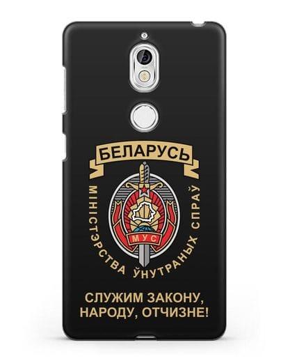 Чехол с гербом Министерства Внутренних Дел Республики Беларусь силикон черный для Nokia 7