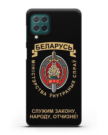 Чехол с гербом Министерства Внутренних Дел Республики Беларусь силикон черный для Samsung Galaxy M62 [SM-M625F]
