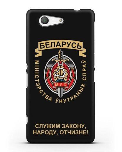 Чехол с гербом Министерства Внутренних Дел Республики Беларусь силикон черный для Sony Xperia Z3 Compact