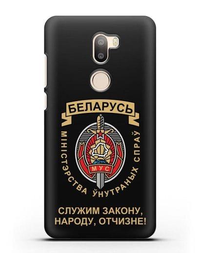 Чехол с гербом Министерства Внутренних Дел Республики Беларусь силикон черный для Xiaomi Mi 5S Plus