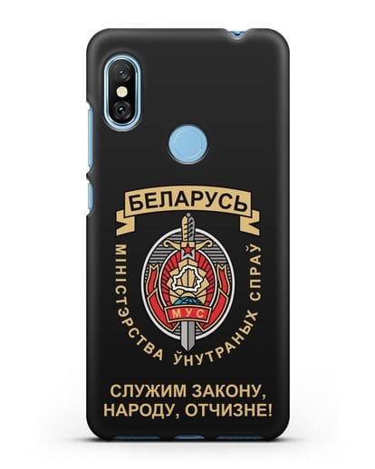 Чехол с гербом Министерства Внутренних Дел Республики Беларусь силикон черный для Xiaomi Redmi Note 6 Pro
