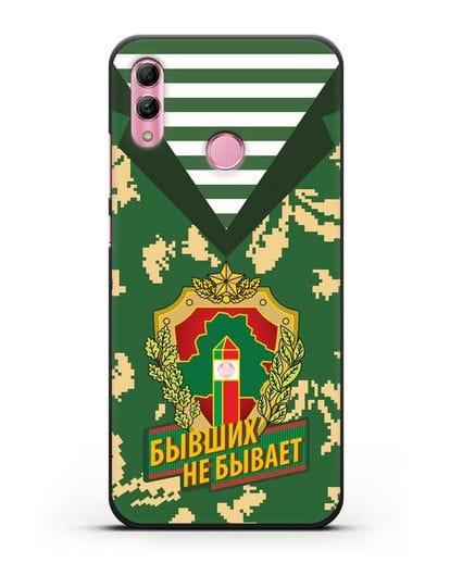 Чехол Камуфляж, тельняшка с гербом Пограничных войск РБ силикон черный для Honor 10 Lite