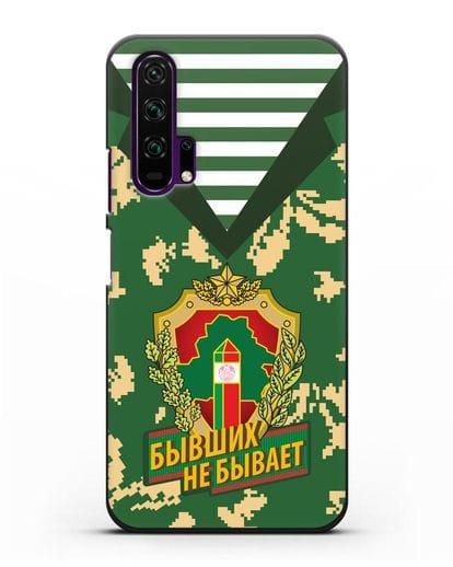 Чехол Камуфляж, тельняшка с гербом Пограничных войск РБ силикон черный для Honor 20 Pro