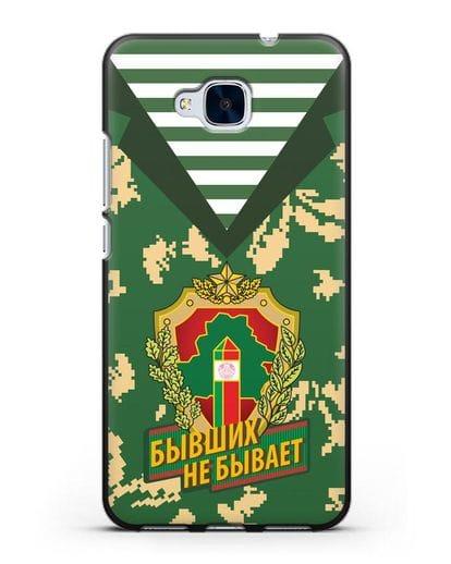 Чехол Камуфляж, тельняшка с гербом Пограничных войск РБ силикон черный для Honor 5C