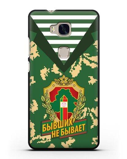 Чехол Камуфляж, тельняшка с гербом Пограничных войск РБ силикон черный для Honor 5X
