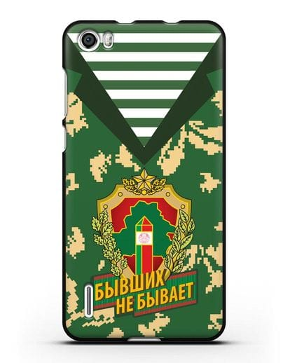 Чехол Камуфляж, тельняшка с гербом Пограничных войск РБ силикон черный для Honor 6