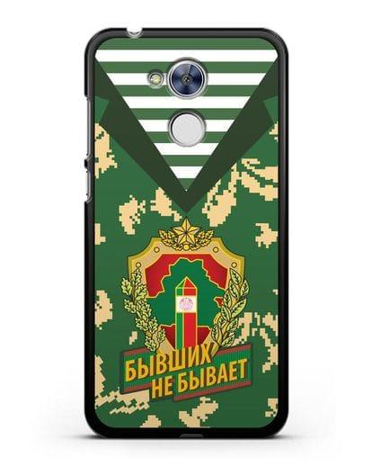 Чехол Камуфляж, тельняшка с гербом Пограничных войск РБ силикон черный для Honor 6A